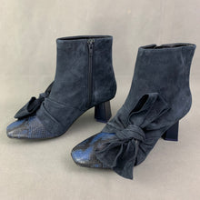 Load image into Gallery viewer, New MARKUS LUPFER Blue Suede Heeled BOOTS Size EU 40 - UK 7