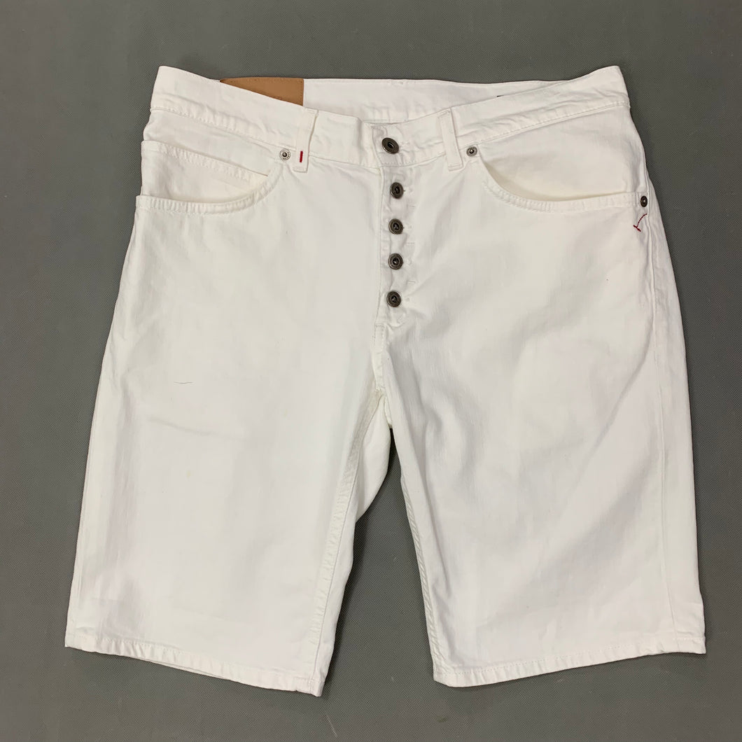 DONDUP Mens ROLLY Regular Fit White Denim SHORTS - Size 34