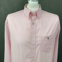 Load image into Gallery viewer, GANT Mens THE BROADCLOTH PINSTRIPE Pink SHIRT - Size Large - L
