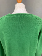 Load image into Gallery viewer, BARBOUR Ladies Green LOWMOORE KNIT JUMPER - Size MEDIUM M