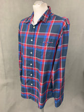 Load image into Gallery viewer, HUGO BOSS Mens BADRU Blue & Red Check SHIRT - Size Extra Large XL