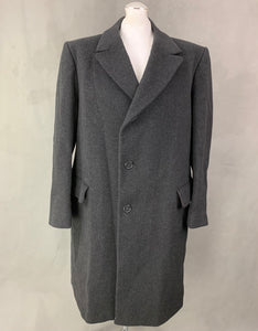 CROMBIE for John Lewis Mens 100% Wool COAT Size 46R Chest 46""