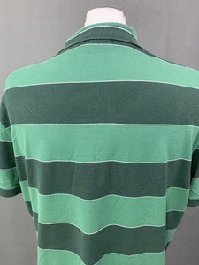 LACOSTE Mens Green Striped POLO SHIRT - LACOSTE Size 7 - 2XL XXL