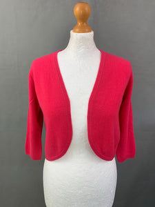 PURE COLLECTION Ladies Pink 100% CASHMERE CARDIGAN - Size UK 10