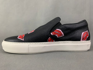 MARKUS LUPFER Black LIPS GRAPHIC TRAINERS / SHOES Size EU 40 - UK 7