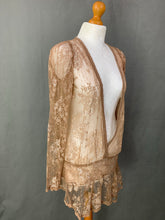 Load image into Gallery viewer, ALLSAINTS Ladies Sheer Light Brown Lace Top - Size UK 10