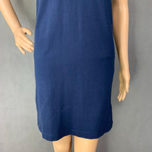 Load image into Gallery viewer, HENRI LLOYD Ladies Blue Cotton POLO SHIRT DRESS Size XS - UK 8