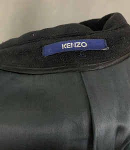 "KENZO Mens Black 100% Wool COAT Size IT 52 - Chest 42"" -  Extra Large XL"