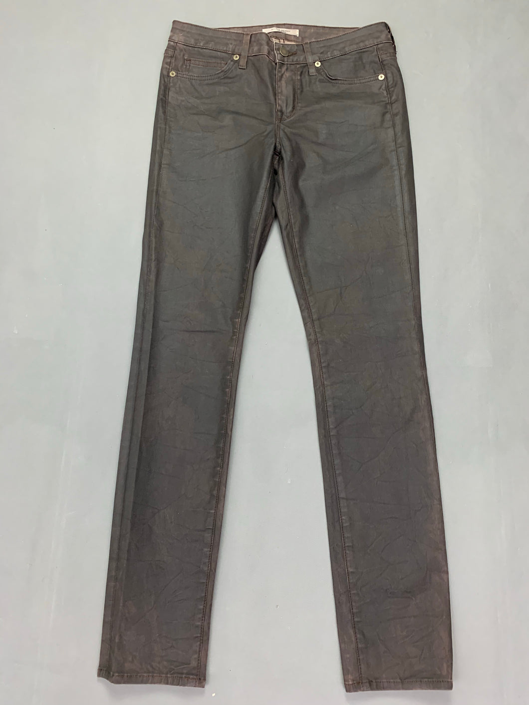 RICH & SKINNY Ladies Bourbon Coated JEANS Size Waist 27