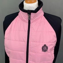 Load image into Gallery viewer, LRL RALPH LAUREN Ladies Black & Pink QUILTED JACKET Size L LARGE