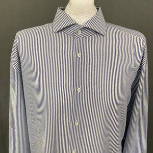 "HUGO BOSS TAILORED Mens COTONIFICIO ALBINI Slim Fit SHIRT Size 45"" Chest - 17.75"" Collar"