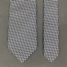 Load image into Gallery viewer, AQUASCUTUM Mens Silver 100% SILK Patterned TIE - Made in Italy