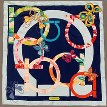 Load image into Gallery viewer, SALVATORE FERRAGAMO 100% SILK SCARF - 67cm x 67cm - Made in Italy