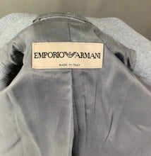 Load image into Gallery viewer, EMPORIO ARMANI Ladies Blue Virgin Wool Blend JACKET Size IT 40 - UK 8