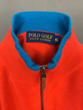 Load image into Gallery viewer, RALPH LAUREN Mens Red Zip Neck JUMPER Size XL Extra Large
