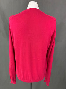 LACOSTE Mens Pink Cotton Crew Neck JUMPER Size 3 - Small S