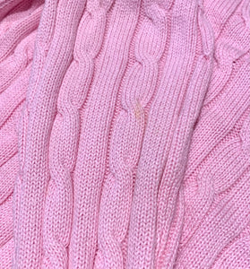 RALPH LAUREN Ladies Pink Cable Knit JUMPER Size S Small