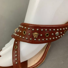 Load image into Gallery viewer, GIANNI VERSACE Brown Leather High Heel Sandals / Shoes Size EU 40 - UK 7