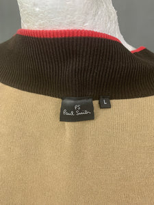 PS PAUL SMITH Mens Brown Zip Fasten CARDIGAN - Size L Large