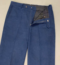 "Load image into Gallery viewer, AQUASCUTUM Mens Navy Blue Tapered Leg TROUSERS Size Waist 34"" - Leg 29"""
