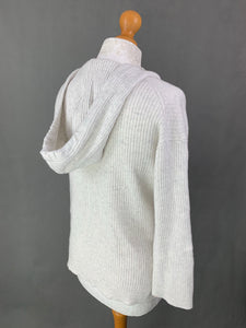LOUNGE The WHITE COMPANY Grey CASHMERE Blend JUMPER - Size M Medium