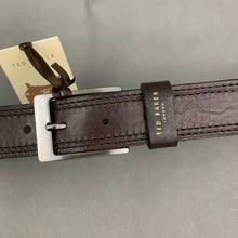 "Load image into Gallery viewer, New TED BAKER London Brown 100% Italian Leather BELT - Size 30"" Waist"
