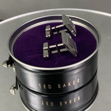 Load image into Gallery viewer, New TED BAKER Grey GOLCUFF Contrast Square CUFFLINKS with Presentation Box