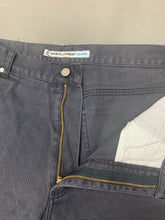 "Load image into Gallery viewer, YSL SAINT LAURENT Mens Grey Denim Tapered Leg JEANS Size Waist 40"" - Leg 32"""