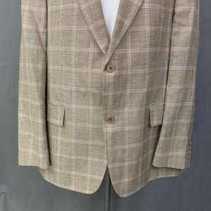 "HUGO BOSS Mens PASOLINI Linen Blend BLAZER / JACKET Size IT 56 / UK 46"" Chest"