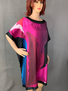 New TED BAKER Mulberry Silk COLETT Square DRESS Ted Size 1 - UK 8 XS BNWT