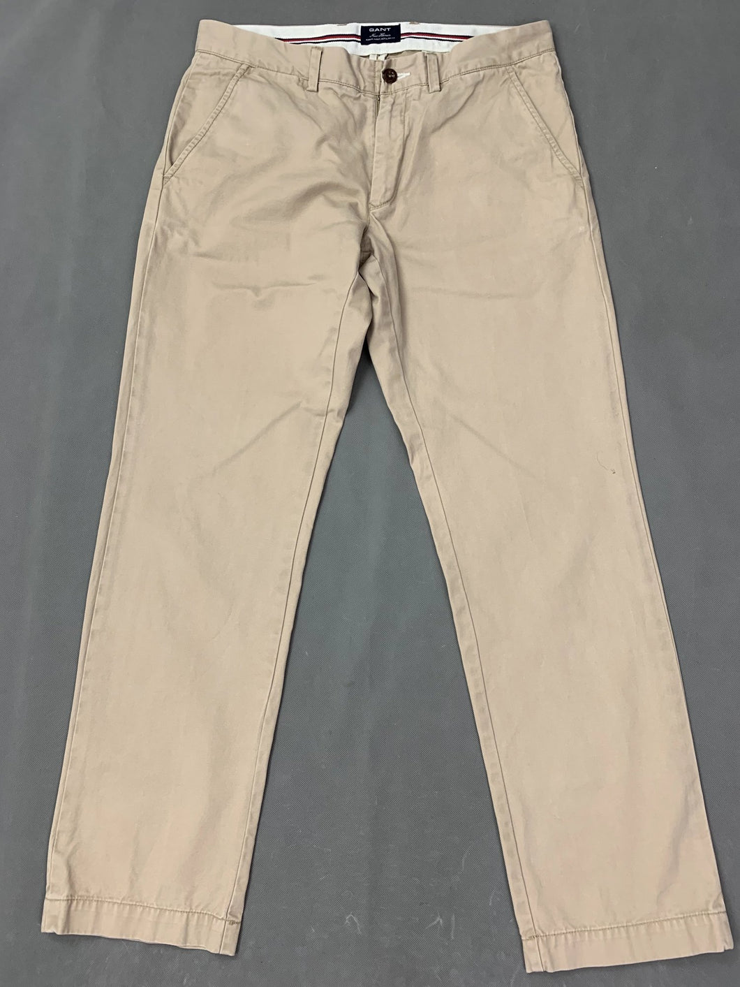 GANT Mens NEW HAVEN Beige CHINOS / TROUSERS Size Waist 32
