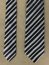 Load image into Gallery viewer, ARMANI COLLEZIONI Mens Blue Striped 100% Silk TIE - Made in Italy