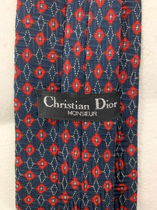 CHRISTIAN DIOR Monsieur Mens 100% Silk Patterned TIE - Made in England