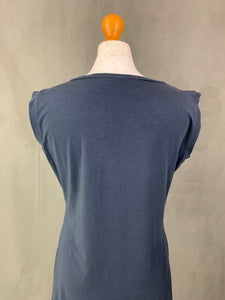 MAXMARA Weekend Blue Sequinned Sleeveless Top Size L Large MAX MARA