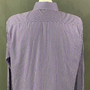 "PAUL SMITH London Mens Purple Checked SHIRT Size 17"" Collar - 2XL XXL"