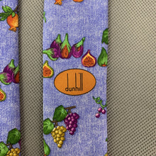 Load image into Gallery viewer, DUNHILL Mens Blue 100% SILK Still Life Fruit Graphic TIE - Made in Italy