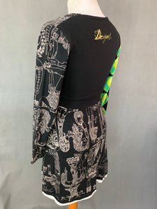 DESIGUAL Ladies Long Sleeved Fit & Flare DRESS - Size S Small
