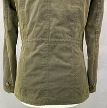 Load image into Gallery viewer, BARBOUR Ladies Green Waxed Cotton CONVOY JACKET / COAT - Size UK 8