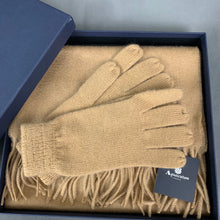 Load image into Gallery viewer, New AQUASCUTUM Ladies Cashmere Blend SCARF & GLOVES Boxed Gift Set BNIB