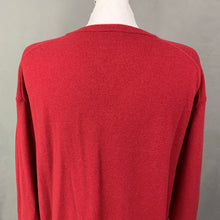 Load image into Gallery viewer, LACOSTE Mens Red Pure Virgin Wool V-Neck JUMPER LACOSTE Size 8 - 3XL XXXL
