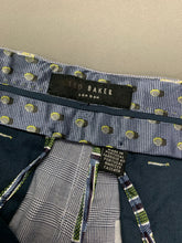 "Load image into Gallery viewer, New TED BAKER Mens Blue Check Tapered Leg TROUSERS Waist 32"" Leg 32"" BNWOT"