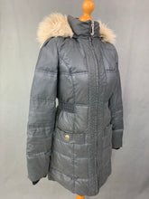 Load image into Gallery viewer, JUICY COUTURE Ladies Grey DOWN FILLED Quilted COAT Size Small S