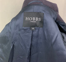 Load image into Gallery viewer, HOBBS London Ladies Blue ANGORA Blend COAT - Size UK 12