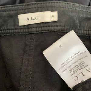 A.L.C. Ladies Black Leather TROUSERS - Size US 6 - UK 10 - Small -