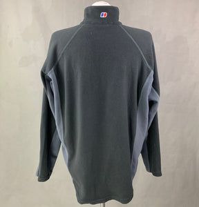 BERGHAUS Mens Grey FLEECE TOP - Size Extra Large - XL