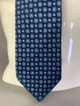 Load image into Gallery viewer, ERMENEGILDO ZEGNA Mens Blue 100% SILK Patterned TIE