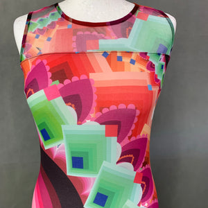 DESIGUAL Ladies Sleeveless Colourful DRESS - Size  XS Extra Small