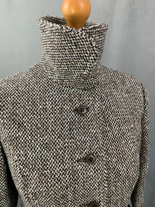 Vintage TWEED Ladies COAT / JACKET by HORROCKSES Size UK 8