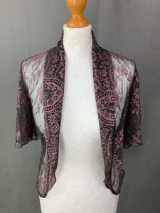 New NANCY MAC Ladies CASSIE / KRISTEN LACE TOP / SHRUG Size 1 - UK 10 BNWT