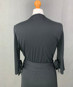 BURBERRY LONDON Ladies Black WRAP TOP Size UK 12 - IT 44 - US 10